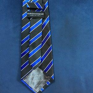 Armani Striped Blue Silk Tie